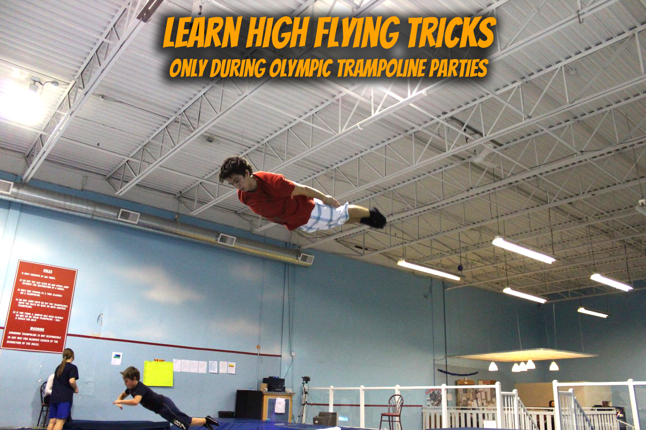 Airborne Olympic Trampoline Party Tricks