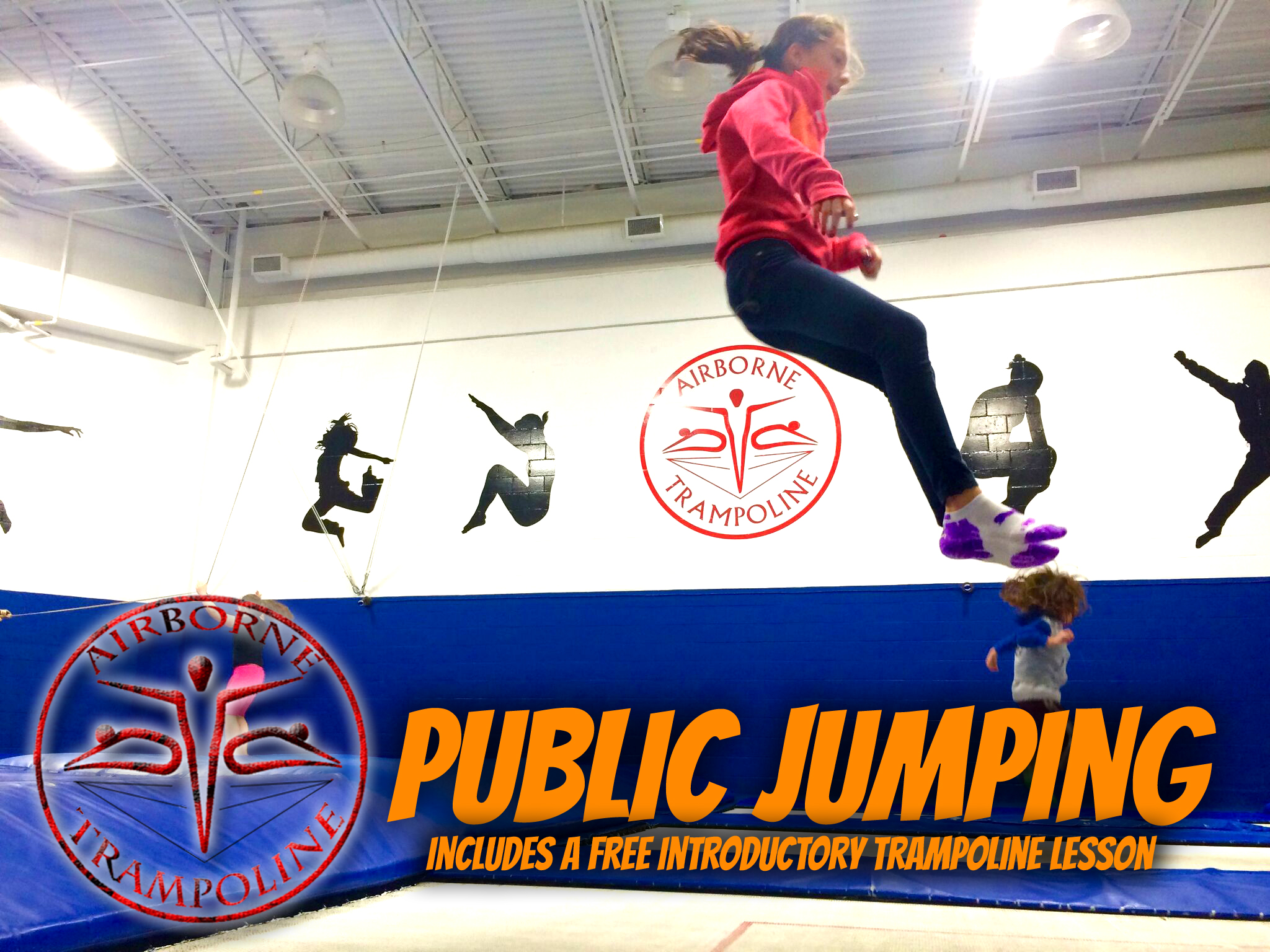 Public Jumping Airborne Trampoline Vaughan